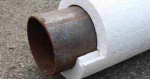 Фото теплоизоляции трубы пенопластом, enstroizakaz.zp.ua