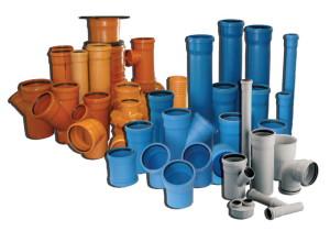 На фото - виды канализационных труб и соединений, o-trubah.ru