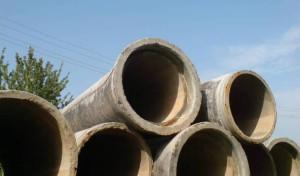 На фото - железобетонные канализационные трубы, o-trubah.ru