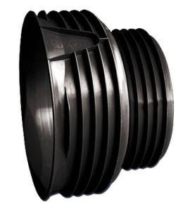 На фото - пластиковая заглушка-фитинг для стальных труб, truby-spb.ru
