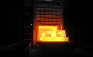 Фото процесса отжига, calderys.fi
