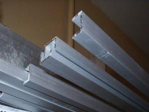 Фото алюминиевого швеллера  с П-образным поперечным сечением, roof-tops.ru