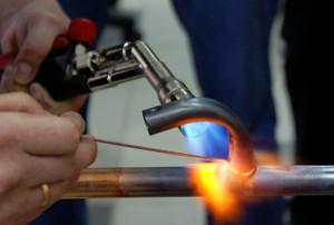 Фото пайки медной трубы, canalizator-pro.ru