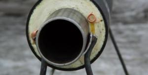 На фото - полиуретановый слой труб ППУ, izol-trub.ru