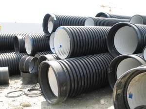 Фото двухслойных канализационных труб с гофрой, uniteplo.ru