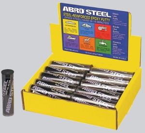 На фото - холодная сварка Abro Steel, abro.ru