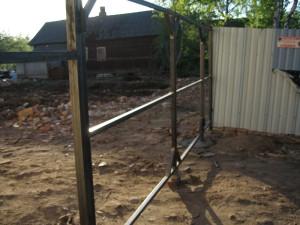 Поэтапная схема монтажа ворот и калитки из профилированных листов