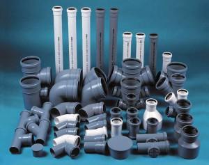На фото - трубные изделия для замены канализации, santehbrigada.ru