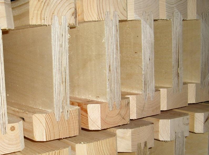 Двутавр из дерева