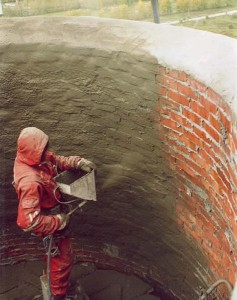 Фото футеровки дымовой трубы, alp-garant.dp.ua
