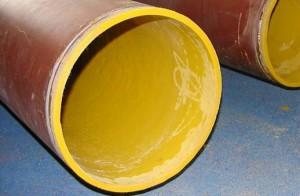 Фото стальной трубы с футеровкой изнутри, metaline.com.ru