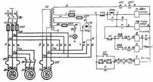 На фото - электрическая схема токарного станка 1И611П, stanki-katalog.ru