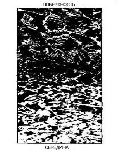 Фото микроструктуры поверхности металла после цементации, termohim.com