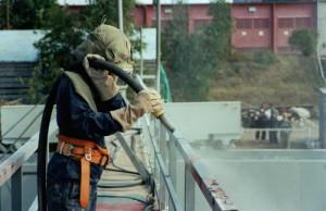 Фото обеспыливания металлоконструкций струей воздуха, ascort.ru