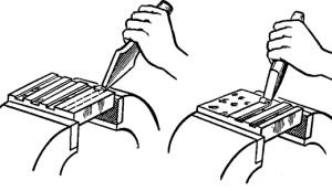 Приспособления для рубки металлических заготовок