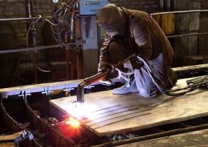Фото автогенной резки стальных и металлических изделий, stalimetal.ru