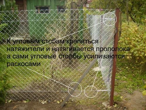 Забор рабица монтаж своими руками 623