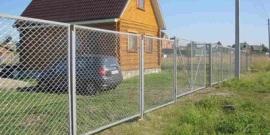 Секционный забор из сетки-рабицы – для быстрой установки!