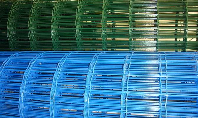 Готовые сварные сетки с покрытием ПВХ