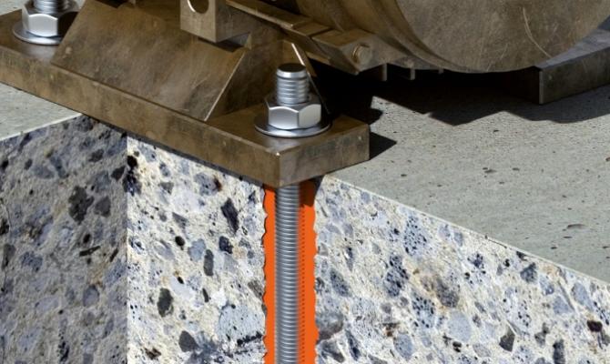 Установка анкерів в бетон