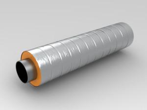 Фото теплоизолированной трубы пенополиуретаном, smk-gazprom.ru