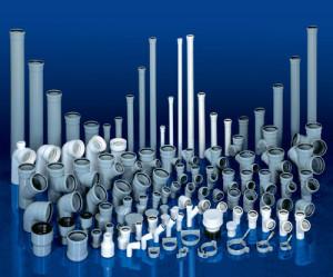 На фото - полиэтиленовые канализационные трубя и соединения, canalizator-pro.ru