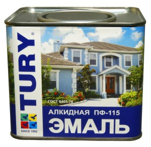 На фото - алкидная эмаль для окраски оцинкованного листа, stroyka.ru