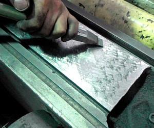 Фото шабровки металла, robotun.com.ua