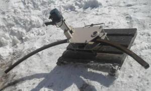 Фото гибки профильной трубы зимой, canalizator-pro.ru