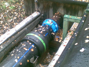 Фото напорной наружной канализации, okanalizatsii.ru