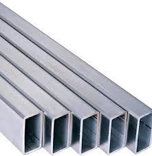 На фото - прямоугольная алюминиевая труба