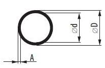 На фото - размеры круглой алюминиевой трубы