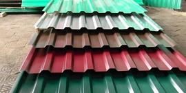 Профлист – размеры и вес стандартных листов для крыши и стен
