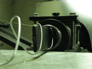Процесс плетения сетки рабицы