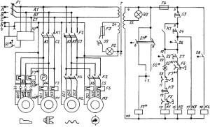 На фото - электрическая схема токарного станка, electromonter.info