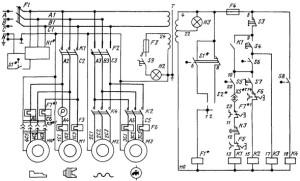 На фото - электрическая схема агрегата 1К62, stanki-katalog.ru