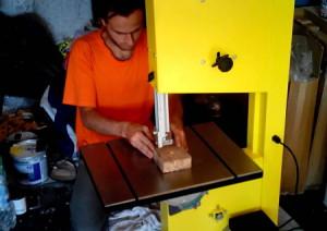 Фото пиления на станке Корвет-35, youtube.com