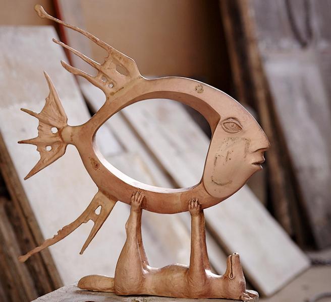 Фото деревянной модели для художественного литья из бронзы