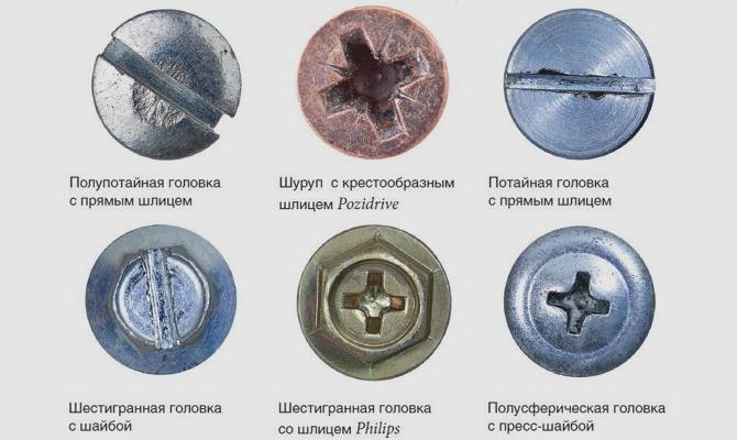 Шлицы разной формы