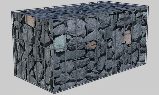 Большая клетка с камнями