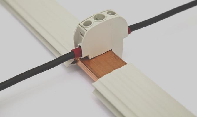 Крепление электротехнической шины