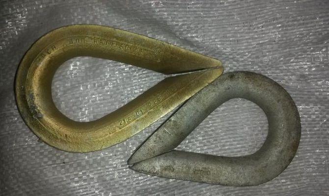Основные разновидности металлических коушей